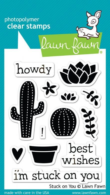 LF0850 M ~ Stuck on You ~ CLEAR STAMPS BY LAWN FAWN